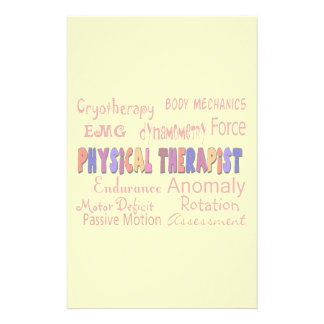 Physical Therapist Terminology Stationary Stationery