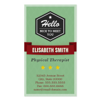 Physical Therapist - Vintage Retro Stylish Pack Of Standard Business Cards