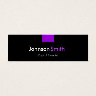 Physical Therapist - Violet Purple Compact Mini Business Card