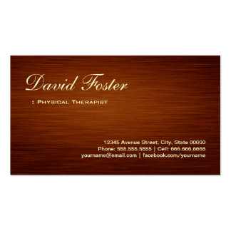 Physical Therapist - Wood Grain Look Pack Of Standard Business Cards