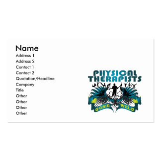 Physical Therapists Gone Wild Business Card Template