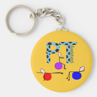 Physical Therapy Assistant Gifts Basic Round Button Key Ring