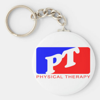 Physical Therapy Basic Round Button Key Ring