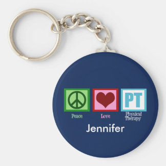 Physical Therapy Blue Custom Key Ring