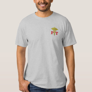 Physical Therapy Embroidered T-Shirt