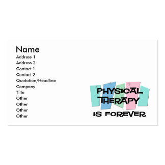 Physical Therapy Is Forever Business Card Templates