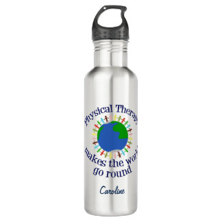 Physical Therapy Makes the World Go Round 710 Ml Water Bottle