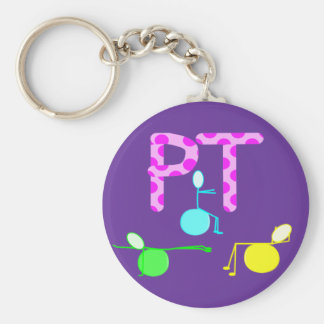 Physical Therpist Gifts With Unique Graphics Basic Round Button Key Ring