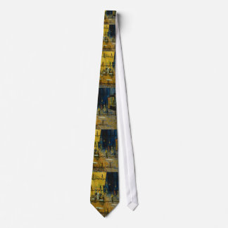 "Physician Art Tie by Van Gogh ""Cafe Terrace"""