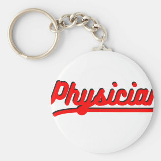 Physician Basic Round Button Key Ring