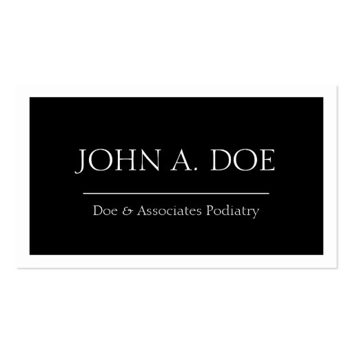 Physician Doctor MD Medical Black Banner W/W Business Card Templates