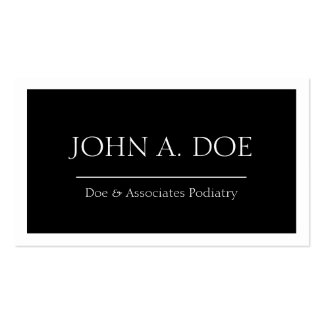 Physician Doctor MD Medical Black Banner W/W Pack Of Standard Business Cards