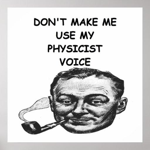 physicist joke print