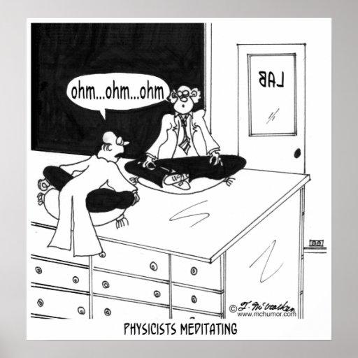 Physicists Meditating Print