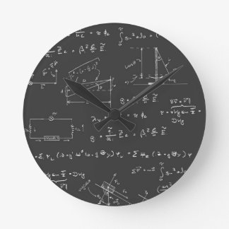 Physics diagrams and formulas clock