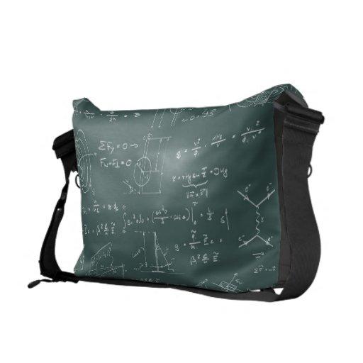 Physics diagrams and formulas courier bag