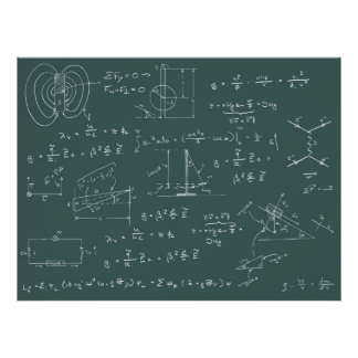 Physics diagrams and formulas poster