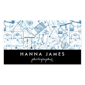 Physics Doodle Science Sketch Personalized Text Pack Of Standard Business Cards