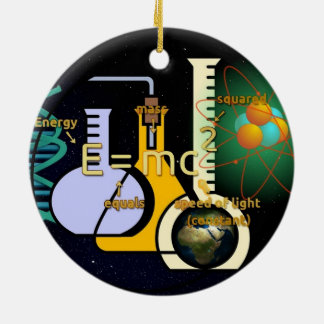 Physics E=mc2 colorful design Ceramic Ornament