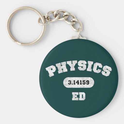 Physics Ed Basic Round Button Key Ring