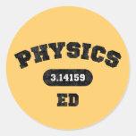 Physics Ed Round Stickers