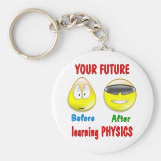 Physics Future Basic Round Button Key Ring