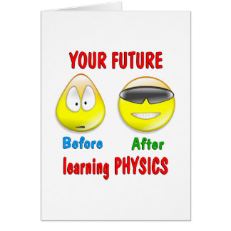 Physics Future Greeting Card