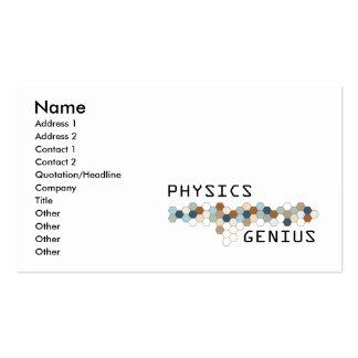 Physics Genius Business Card Templates