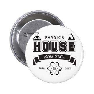 Physics House 6 Cm Round Badge