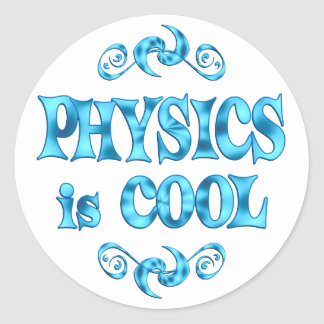 Physics is Cool Round Stickers