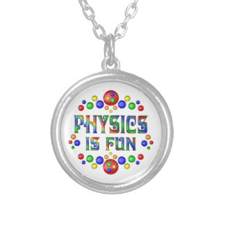 Physics is Fun Silver Plated Necklace