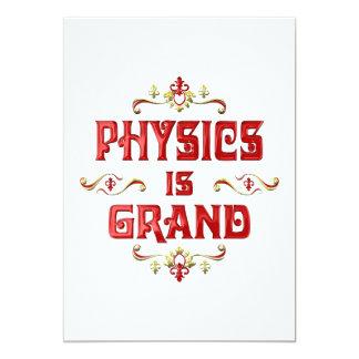 "Physics is Grand 5"" X 7"" Invitation Card"