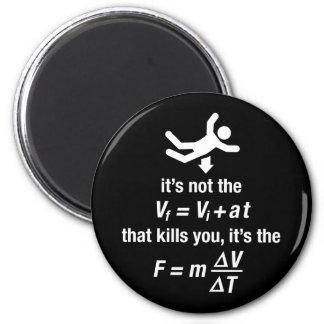 physics - it s the sudden deceleration that kills refrigerator magnets