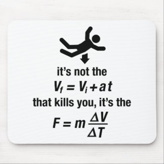 physics - it s the sudden deceleration that kills mouse pad