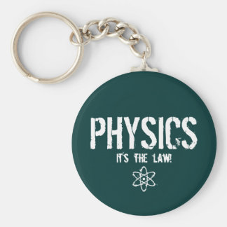Physics - It's the Law! Basic Round Button Key Ring