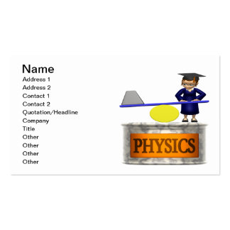 Physics Pack Of Standard Business Cards