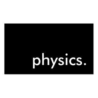 physics. pack of standard business cards