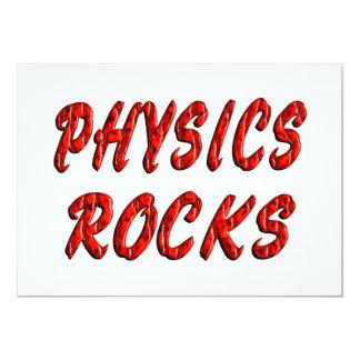 "Physics ROCKS 5"" X 7"" Invitation Card"
