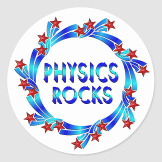 Physics Rocks Fun Classic Round Sticker