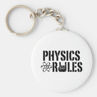 Physics Rules Basic Round Button Key Ring