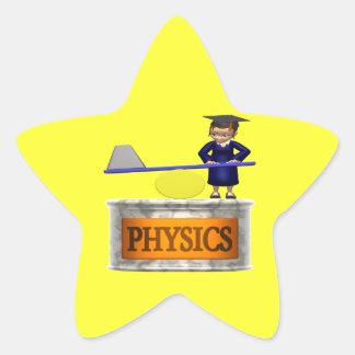 Physics Star Sticker