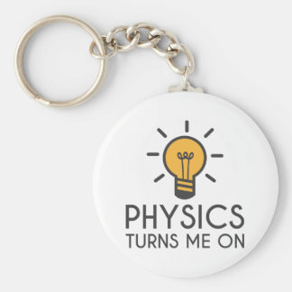 Physics Turns Me On Basic Round Button Key Ring