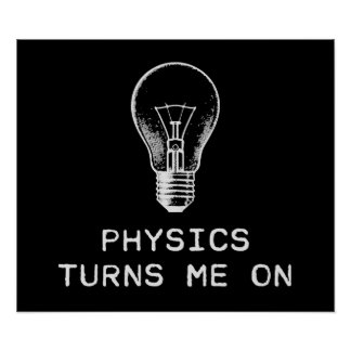 Physics Turns Me On Poster