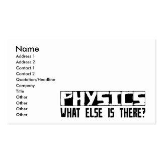Physics What Else Is There? Business Card Template