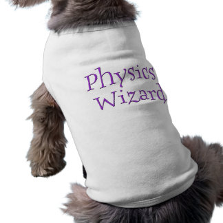 Physics Wizard Sleeveless Dog Shirt