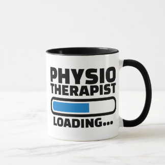 Physiotherapist loading mug