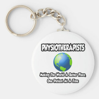 Physiotherapists ... World a Better Place Basic Round Button Key Ring