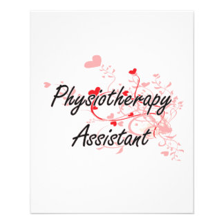 Physiotherapy Assistant Artistic Job Design with H 11.5 Cm X 14 Cm Flyer