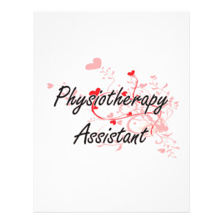 Physiotherapy Assistant Artistic Job Design with H 21.5 Cm X 28 Cm Flyer