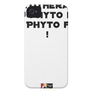 PHYTOTHERAPY: WITH THE SAID PHYTO, THE MADE PHYTO! iPhone 4 Case-Mate CASES